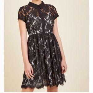ModCloth black lace overlay dress NWOT